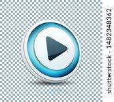play arrow button sign...   Shutterstock .eps vector #1482348362