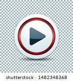 play arrow button sign...   Shutterstock .eps vector #1482348368