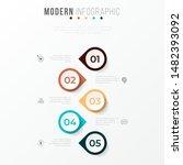 business infographics timeline... | Shutterstock .eps vector #1482393092