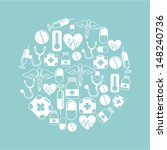 medical design over blue...   Shutterstock .eps vector #148240736