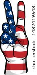 usa patriotic peace sign hand... | Shutterstock .eps vector #1482419648