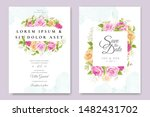beautiful invitation card... | Shutterstock .eps vector #1482431702