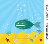 fish with smiling face ... | Shutterstock .eps vector #148243946