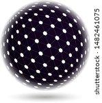 abstract mesh polygonal sphere. ... | Shutterstock .eps vector #1482461075