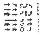 hand drawn arrows set. doodle...   Shutterstock .eps vector #1482473192