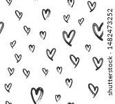 heart doodles seamless love... | Shutterstock .eps vector #1482473252
