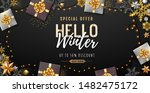 christmas poster with golden... | Shutterstock .eps vector #1482475172