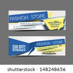 set of fashion store promotion... | Shutterstock .eps vector #148248656