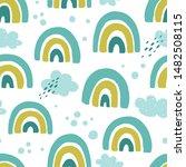 seamless pattern with cartoon... | Shutterstock .eps vector #1482508115