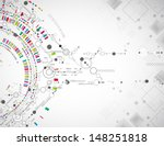 abstract technological... | Shutterstock .eps vector #148251818