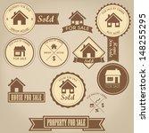 property for sale design set | Shutterstock .eps vector #148255295