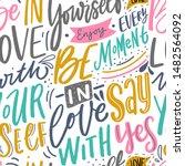 modern hand lettering seamless... | Shutterstock .eps vector #1482564092