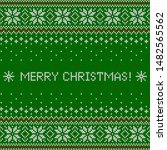 merry christmas greeting card... | Shutterstock .eps vector #1482565562