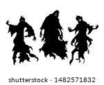 silhouette of flying evil...   Shutterstock .eps vector #1482571832