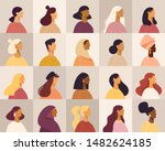 collection of profile portraits ... | Shutterstock .eps vector #1482624185