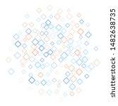 rhombus backdrop minimal... | Shutterstock .eps vector #1482638735
