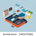 how to pack your suitcase for a ... | Shutterstock .eps vector #1482670382