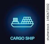 cargo ship sea transport...