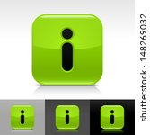 information icon set. green...