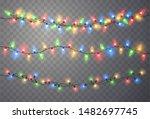 christmas lights. light bulb... | Shutterstock .eps vector #1482697745
