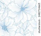 floral seamless pattern. flower ... | Shutterstock . vector #1482714665