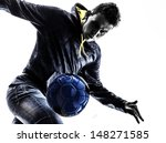 one caucasian young man soccer... | Shutterstock . vector #148271585