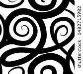 abstract ornamental spiral... | Shutterstock . vector #1482715982