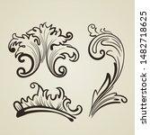 set of decorative vintage... | Shutterstock .eps vector #1482718625