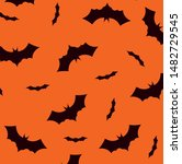 Pattern Of Halloween Bats...