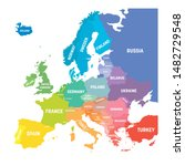map of europe in colors of... | Shutterstock .eps vector #1482729548