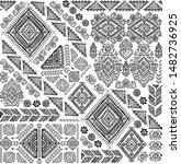 indian rug tribal ornament... | Shutterstock .eps vector #1482736925