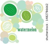 watermelon. banner juicy ripe... | Shutterstock .eps vector #1482786662
