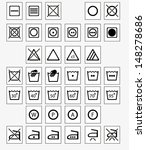 vector set of 37 washing and... | Shutterstock .eps vector #148278686