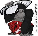 monkey with a surfboard   Shutterstock .eps vector #148279712