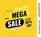modern banner template  mega... | Shutterstock .eps vector #1482808058