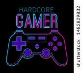 gamer joypad console controller ...   Shutterstock .eps vector #1482829832