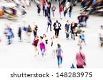 Crowd Of Traveling People On A...