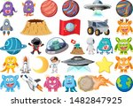 set of isolated objects theme   ... | Shutterstock .eps vector #1482847925