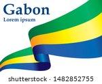 flag of gabon  gabonese... | Shutterstock .eps vector #1482852755