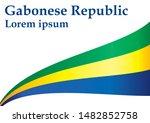 flag of gabon  gabonese... | Shutterstock .eps vector #1482852758