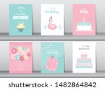 Set Of Birthday Cards Poster...