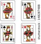 four queens. original design | Shutterstock . vector #148287488
