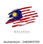 flag of malaysia. vector... | Shutterstock .eps vector #1482893705