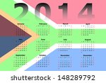 calendar design for 2014 with... | Shutterstock . vector #148289792