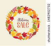 bright autumn leaves circle... | Shutterstock .eps vector #1482902732