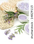 lavender  sage and spa massage... | Shutterstock . vector #14829115