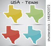 stickers in form of texas state ... | Shutterstock .eps vector #148292372