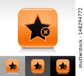 star icon set. orange color...