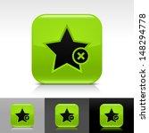 star icon set. green color...