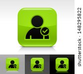 user icon set. green color...